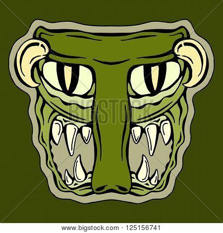 stylized  letter  T  isolated monster mutant vector illustration