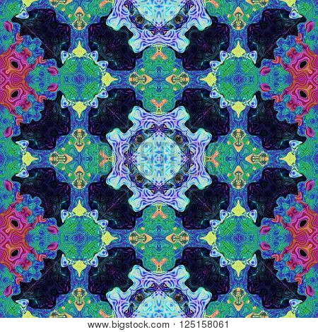 Kaleidoscopic ornamental pattern generated texture or background