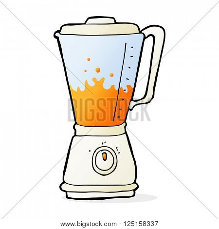 cartoon juice blender