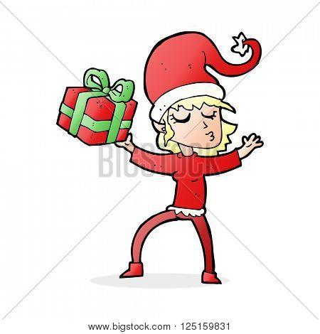 cartoon santa's helper