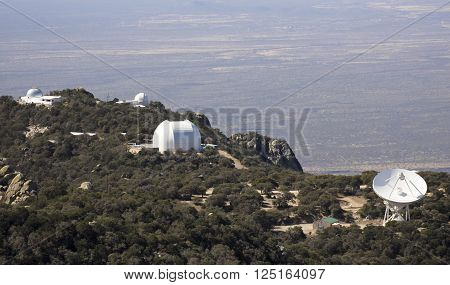 TUCSON, ARIZONA, FEBRUARY 28. Kitt Peak National Observatory on February 28, 2016, near Tucson, Arizona. A radio telescope and observatories at Kitt Peak National Observatory near Tucson Arizona.