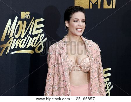 Halsey at the 2016 MTV Movie Awards held at the Warner Bros. Studios in Burbank, USA on April 9, 2016.