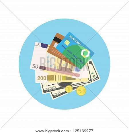 Bank credit concept design style. Credit, credit card, banking and finance, finance payment, banking financial, pay cash