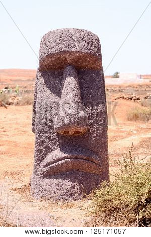 Photo Picture of a Classic Style Moai Mask