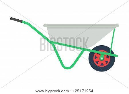 Vector Illustration wheelbarrow . wheelbarrow isolated on white background