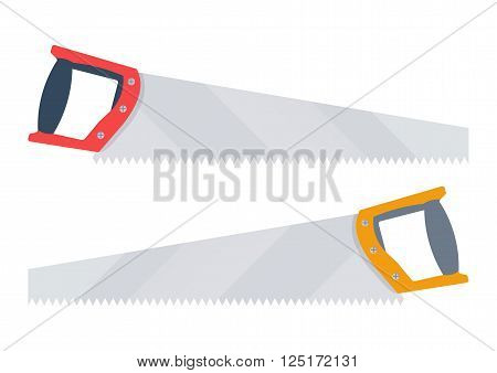 handsaw vector illustration. handsaw isolated on white background