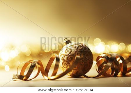 golden christmas card