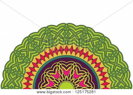 Cinco De Mayo. Abstract background with African ornament. Template for greeting card, invitation or poster with ethnic pattern. Cinco De Mayo pattern. Vector.