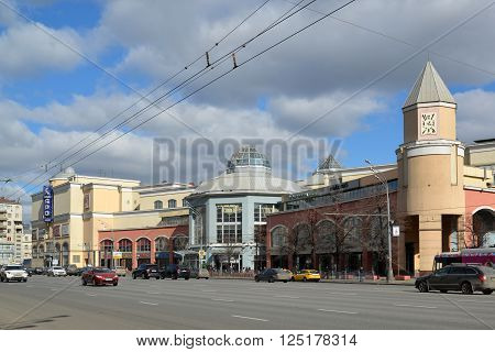 Moscow, Russia - March 14, 2016. the shopping center Atrium  at Metro Kurskaya
