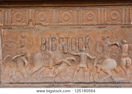Photo Picture of a Beautiful Bas Relief Texture in Granada