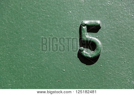 House number 5 in the city of Paris, France