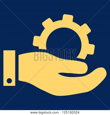 Service vector icon. Service icon symbol. Service icon image. Service icon picture. Service pictogram. Flat yellow service icon. Isolated service icon graphic. Service icon illustration.