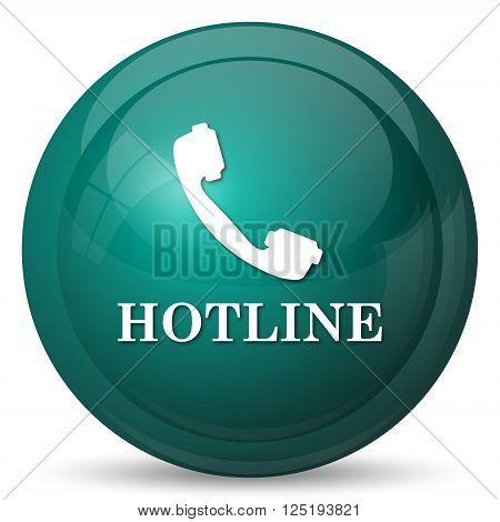 Hotline icon. Internet button on white background.