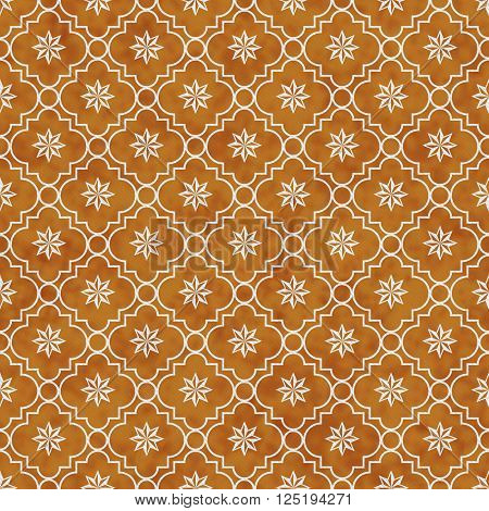 Orange and White Eight Pointed Pinwheel Star Symbol Tile Pattern Repeat Background that is seamless