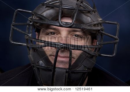 Man In A Catcher's Mask - Horizontal