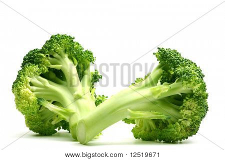 broccoli isolated on white