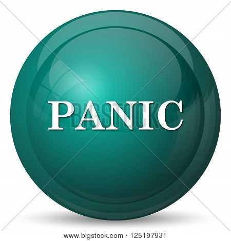 Panic icon. Internet button on white background.