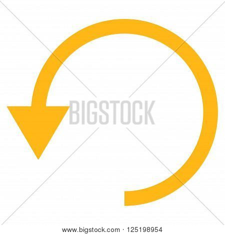 Rotate Ccw vector icon. Rotate Ccw icon symbol. Rotate Ccw icon image. Rotate Ccw icon picture. Rotate Ccw pictogram. Flat yellow rotate ccw icon. Isolated rotate ccw icon graphic.