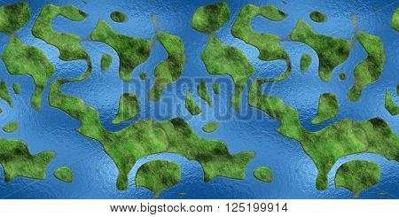 Seamless Texture Earth abstract land and sea. 3D render