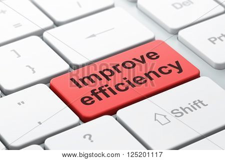 Business concept: Improve Efficiency on computer keyboard background