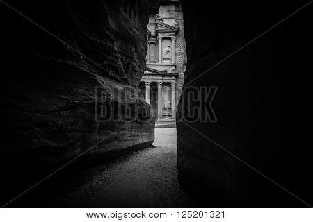Entrance of City of Petra, Jordan