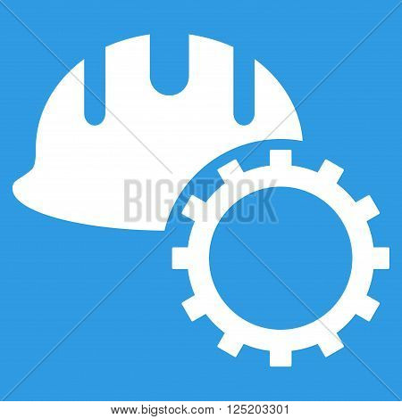 Development Hardhat vector icon. Development Hardhat icon symbol. Development Hardhat icon image. Development Hardhat icon picture. Development Hardhat pictogram. Flat white development hardhat icon.