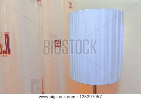 comfortable room design with night light lamp