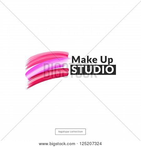 Makeup studio  logo design template. Vector logo layout