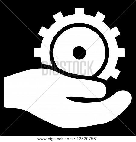 Development Service vector icon. Development Service icon symbol. Development Service icon image. Development Service icon picture. Development Service pictogram. Flat white development service icon.