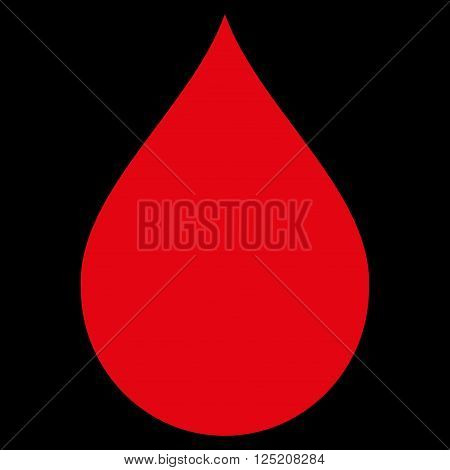 Drop vector icon. Drop icon symbol. Drop icon image. Drop icon picture. Drop pictogram. Flat red drop icon. Isolated drop icon graphic. Drop icon illustration.