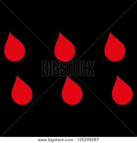 Drops vector icon. Drops icon symbol. Drops icon image. Drops icon picture. Drops pictogram. Flat red drops icon. Isolated drops icon graphic. Drops icon illustration.