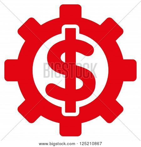 Financial Options vector icon. Financial Options icon symbol. Financial Options icon image. Financial Options icon picture. Financial Options pictogram. Flat red financial options icon.