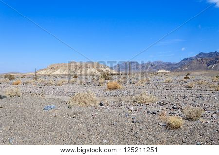 Panorama from Death Valley California USA. Desolate desert