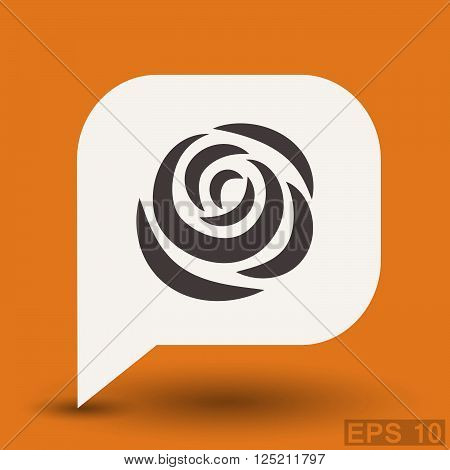 Pictograph of rose. Vector concept illustration for design. Eps 10