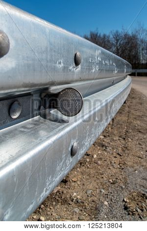 Metal Railing On The Route