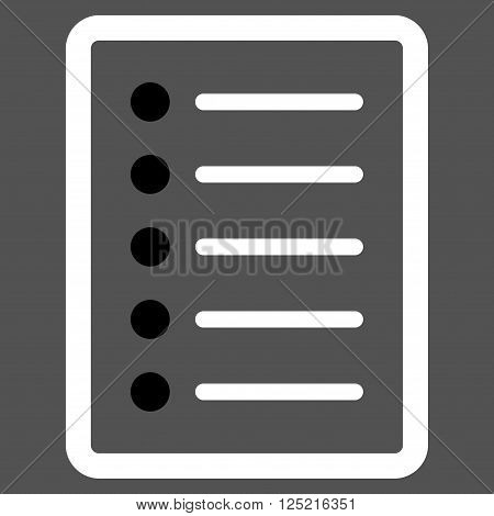 List Page vector icon. List Page icon symbol. List Page icon image. List Page icon picture. List Page pictogram. Flat black and white list page icon. Isolated list page icon graphic.