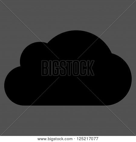 Cloud vector icon. Cloud icon symbol. Cloud icon image. Cloud icon picture. Cloud pictogram. Flat black cloud icon. Isolated cloud icon graphic. Cloud icon illustration.
