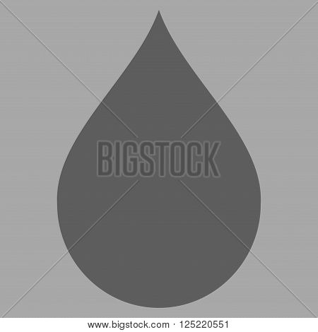 Drop vector icon. Drop icon symbol. Drop icon image. Drop icon picture. Drop pictogram. Flat dark gray drop icon.