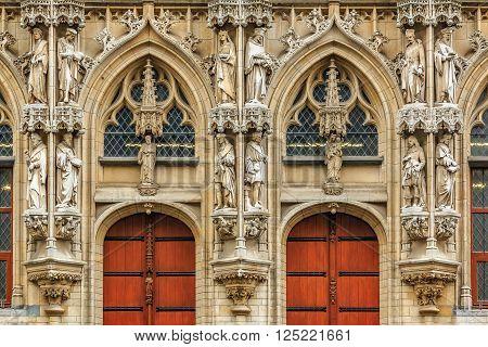 Medieval Town Hall In Leuven Belgium