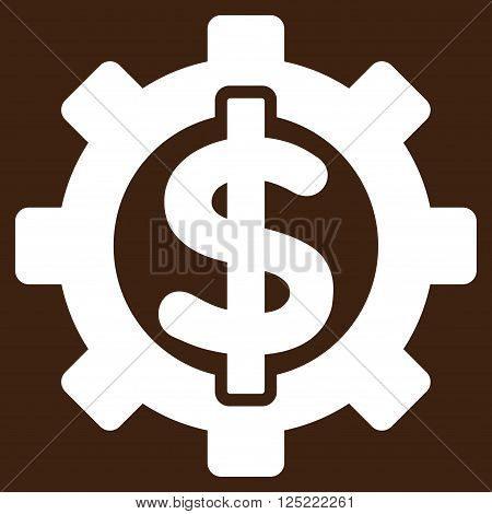Financial Options vector icon. Financial Options icon symbol. Financial Options icon image. Financial Options icon picture. Financial Options pictogram. Flat white financial options icon.