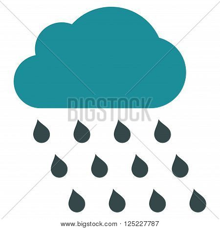 Rain Cloud vector icon. Rain Cloud icon symbol. Rain Cloud icon image. Rain Cloud icon picture. Rain Cloud pictogram. Flat soft blue rain cloud icon. Isolated rain cloud icon graphic.