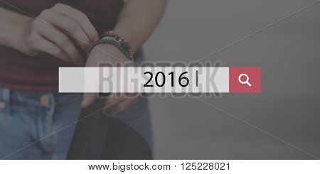 2016 Happy New Year Planning Annual Concept