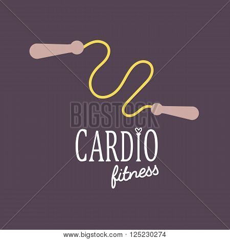 Cardio Training flat icon vector illustration, eps10, easy to edit jump rope logo.