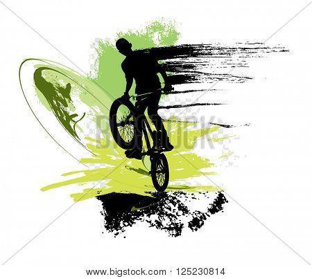 Sport. Road bike rider. Vector