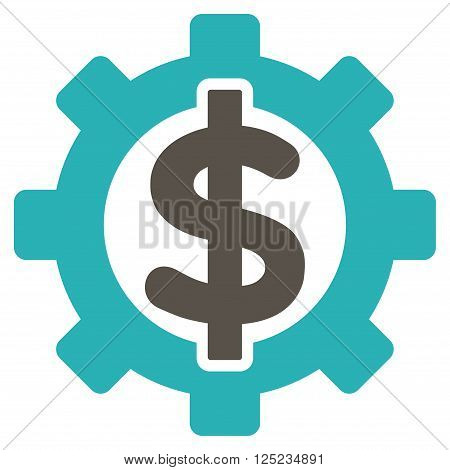 Financial Options vector icon. Financial Options icon symbol. Financial Options icon image. Financial Options icon picture. Financial Options pictogram. Flat grey and cyan financial options icon.