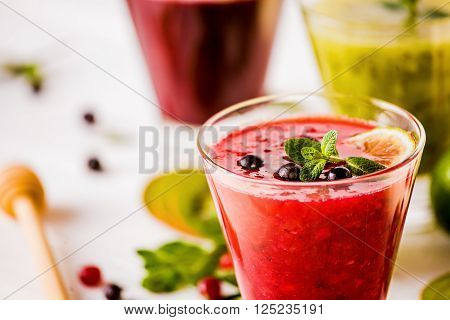Fresh Berry And Fruit Smoothies