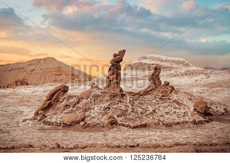 Salt Sculptures Is Beautiful Geological Formation Of Moon Valley