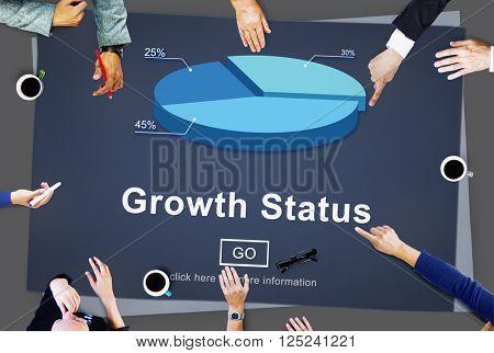 Growth Status Data Development Business Concept