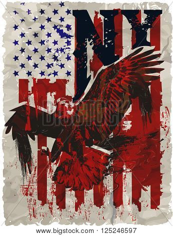 American Eagle Linework Vectorfashion style design new trend
