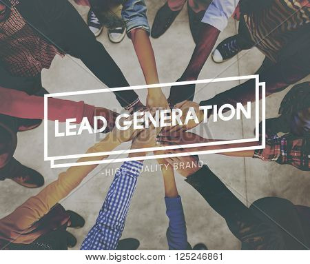 Lead Generation Interest Marketing Business Concept